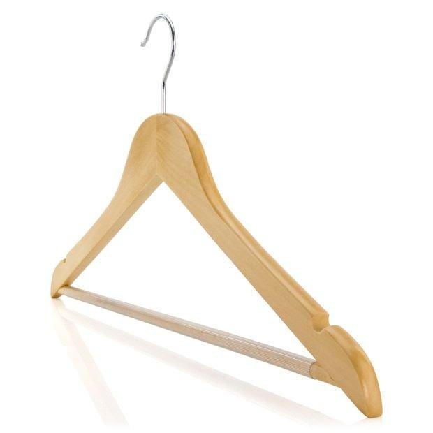 Wooden Hanger With Non Slip Trouser Bar 45cm