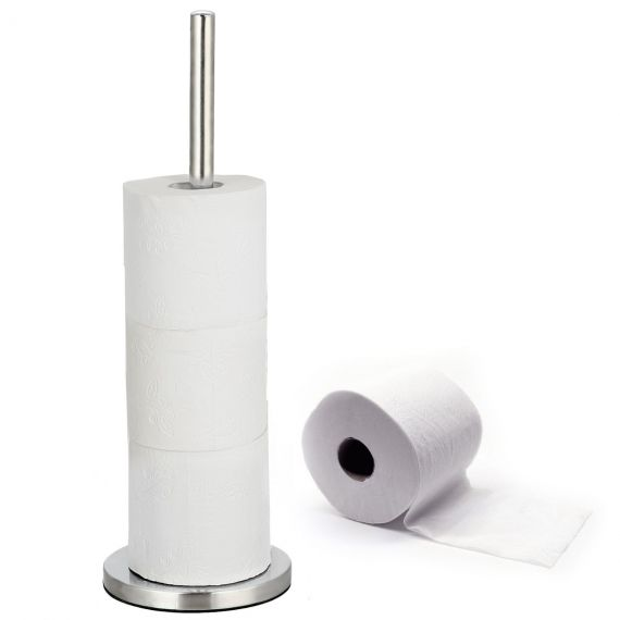 Tatkraft Carol Free Standing Toilet Roll Holder