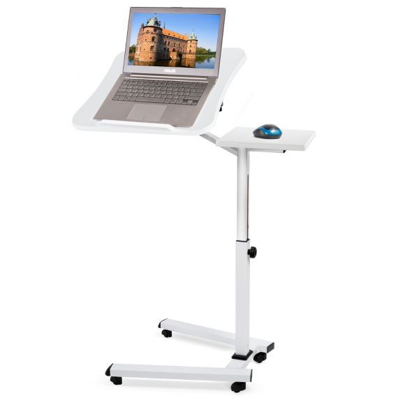 Tatkraft Like Ergonomic Laptop Table on Wheels with Mouse Board