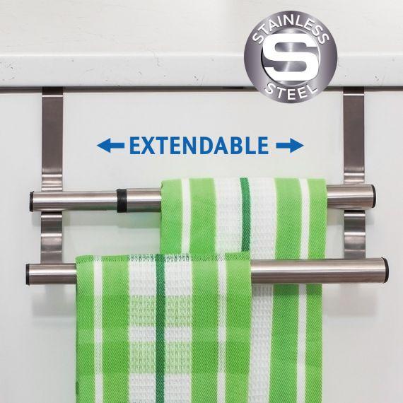 Tatkraft Double Extendable Over The Door Towel Rail
