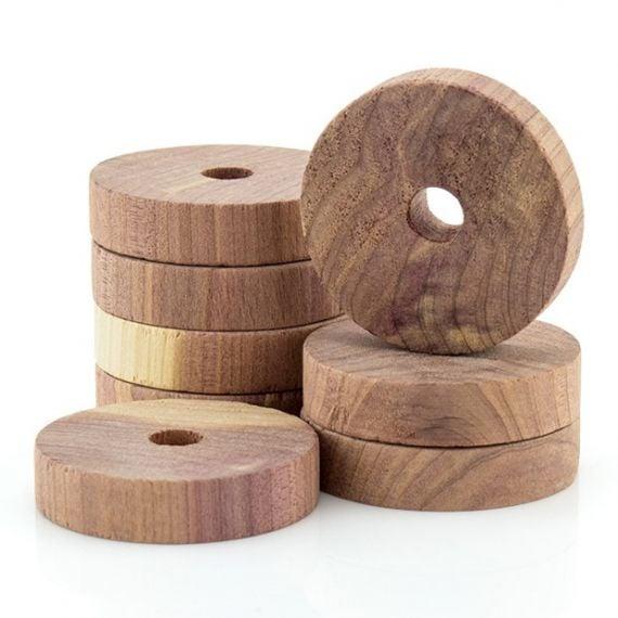 12 Anti-Moth Cedar Wood Rings