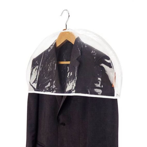 "Clear Showerproof Shoulders Covers with Gusset - 30cm (12"")"