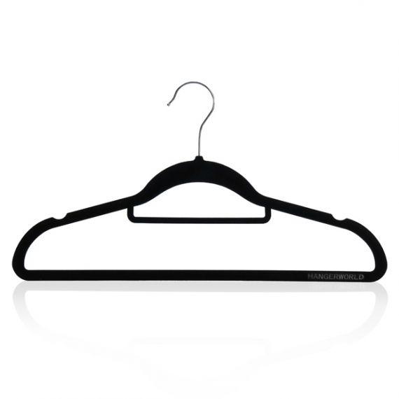 Non-Slip Velvet Trouser Bar Hangers - 42cm
