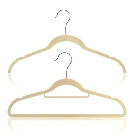 Flocked Velvet Non-Slip Hangers Wardrobe Set – 42cm