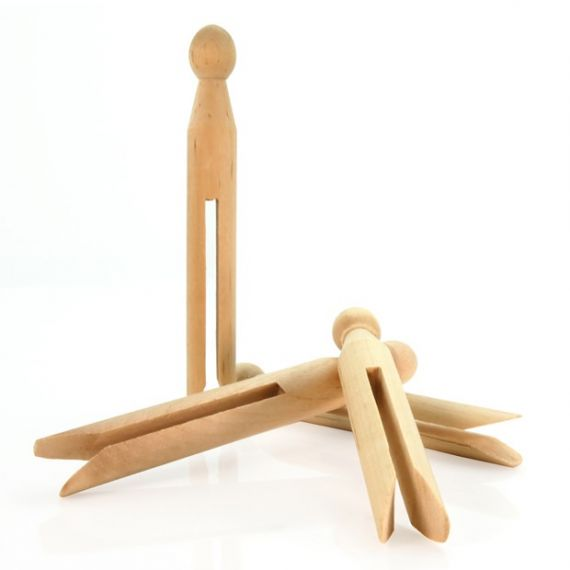 Wooden Dolly Clothes Pegs