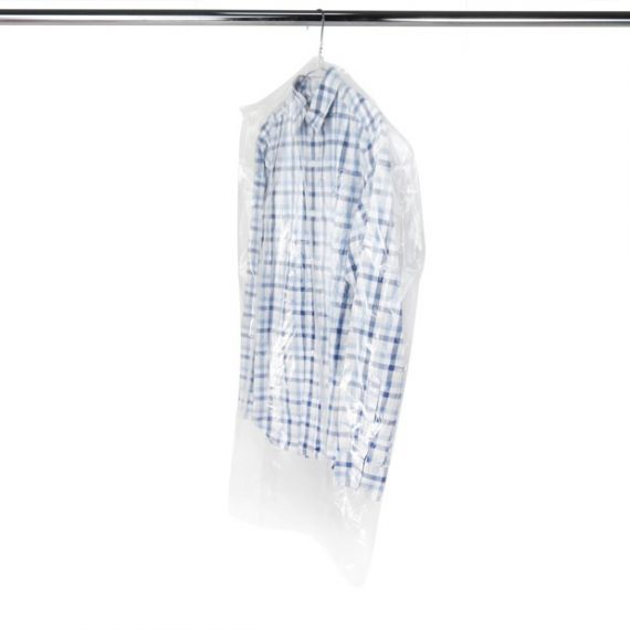 Clear Polythene Covers for Shirts Jackets & Suits - 96cm - 38""