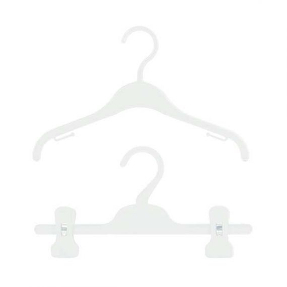 30 Children's Plastic Wardrobe Set Hangers – 30cm