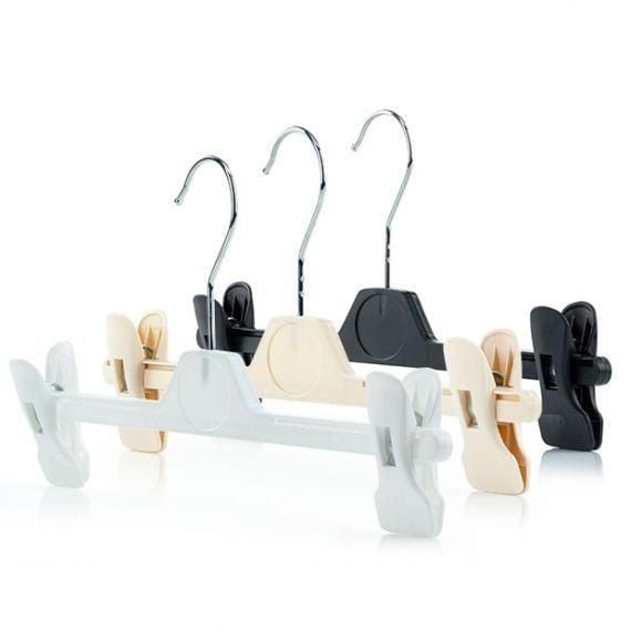 Adjustable Plastic Clip Hangers - 34cm