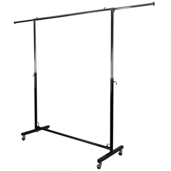 Extendable Metal Clothes Rail With Wheels- width 4ft to 6ft 8""
