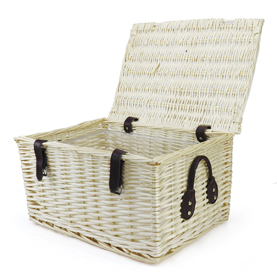 Wicker Hamper Basket with Ice Bucket