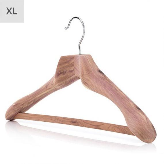 Extra Large Cedar Bar Hanger With Broad Shoulders - 50cm