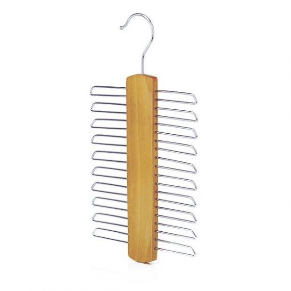 Wooden 20 Bar Tie Hanger