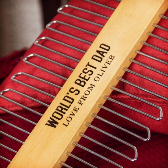 Wooden 20 Bar Tie Hanger- Personalise this hanger