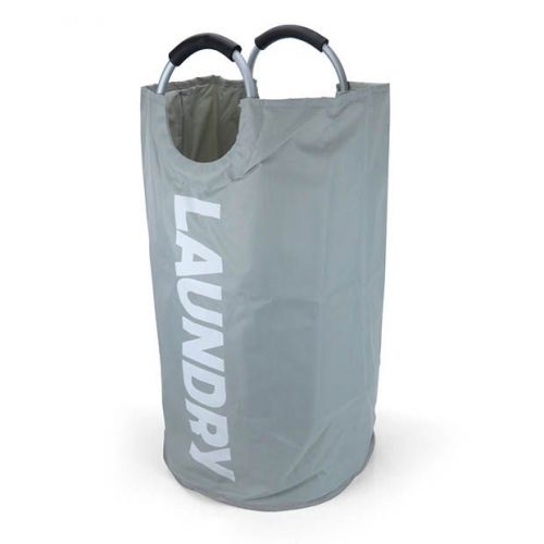 Large Grey Laundry Storage Bag with Stylish Handles