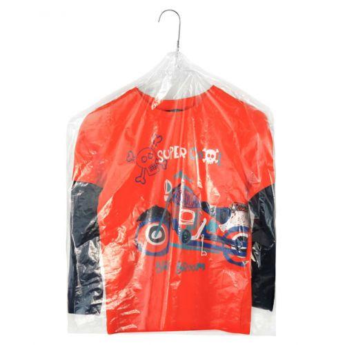 Clear Polythene Children's Clothes Covers 30cm - 100 Gauge