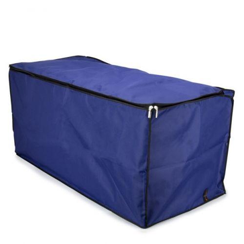 Large Duvet Zipped Storage Chest - Blue with Black Trim