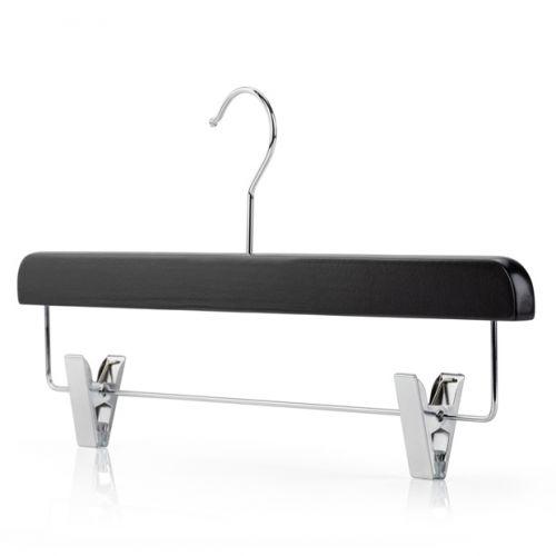 Extra Large Black Wooden Clip Hangers - 40cm