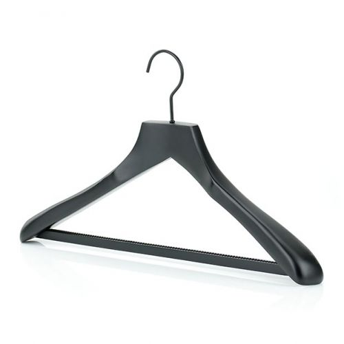 Matte Black Wooden Suit Hangers - 45cm