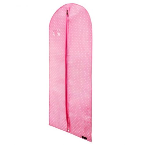 """Breathable Pink Clothes Cover With White Polka Dot - 114cm - 45"""""""