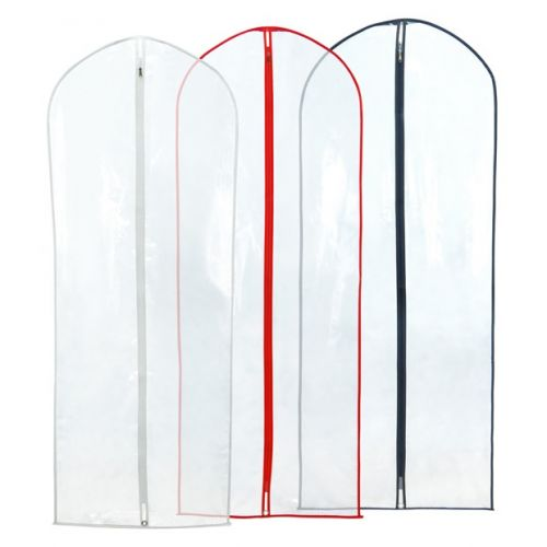 Clear Showerproof Dress Cover with Mixed Colour Trim - 152cm - 60""