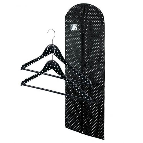 "Breathable Polka Dot Dress Cover 152cm - 60"" & Two Wooden Bar - 45cm"