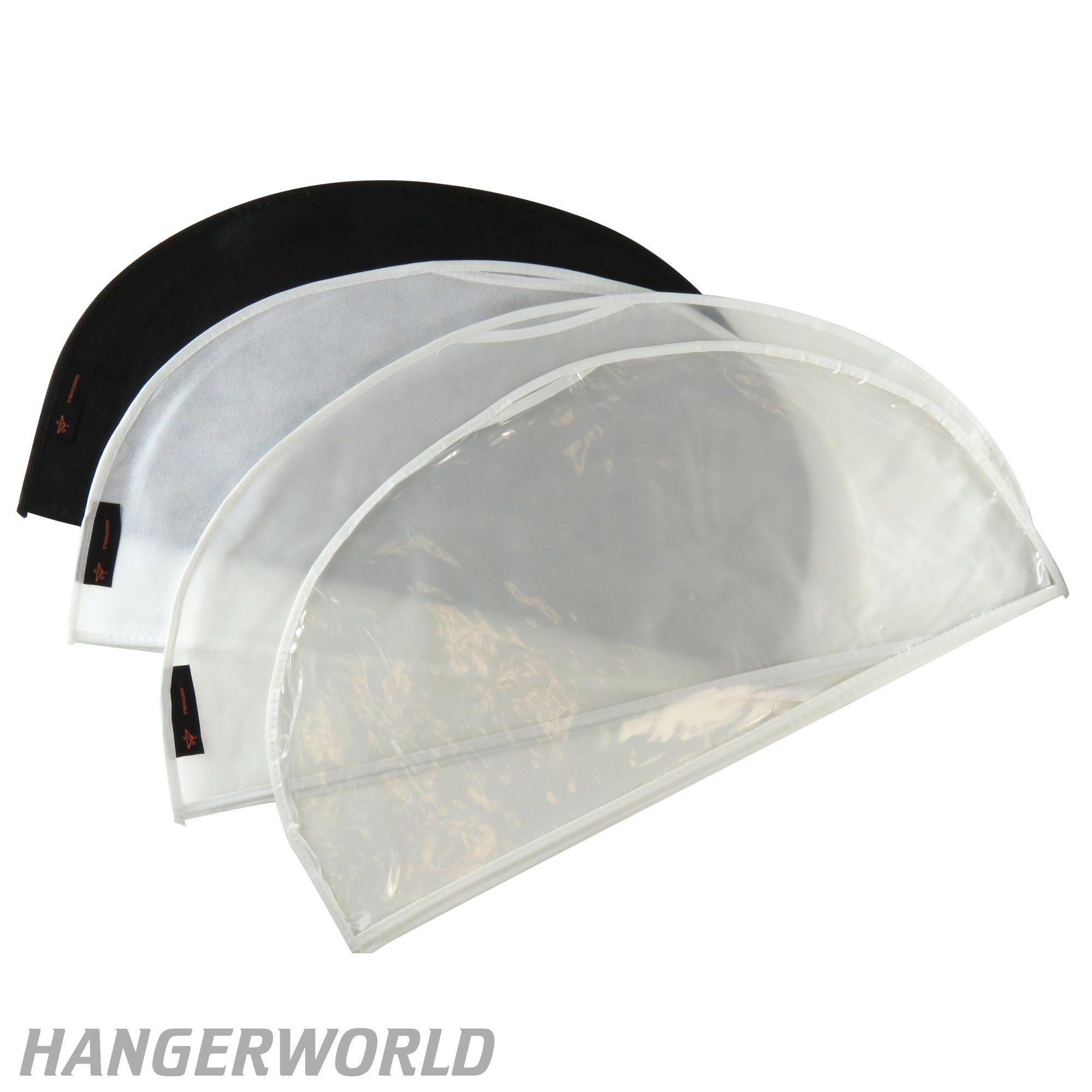 Hangerworld 50 St/ück Folien Kleider-Schutzh/üllen perforiert Transparent 137cm