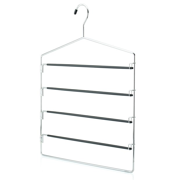 Chrome Metal 4 Tier Trouser Hanger - 40cm