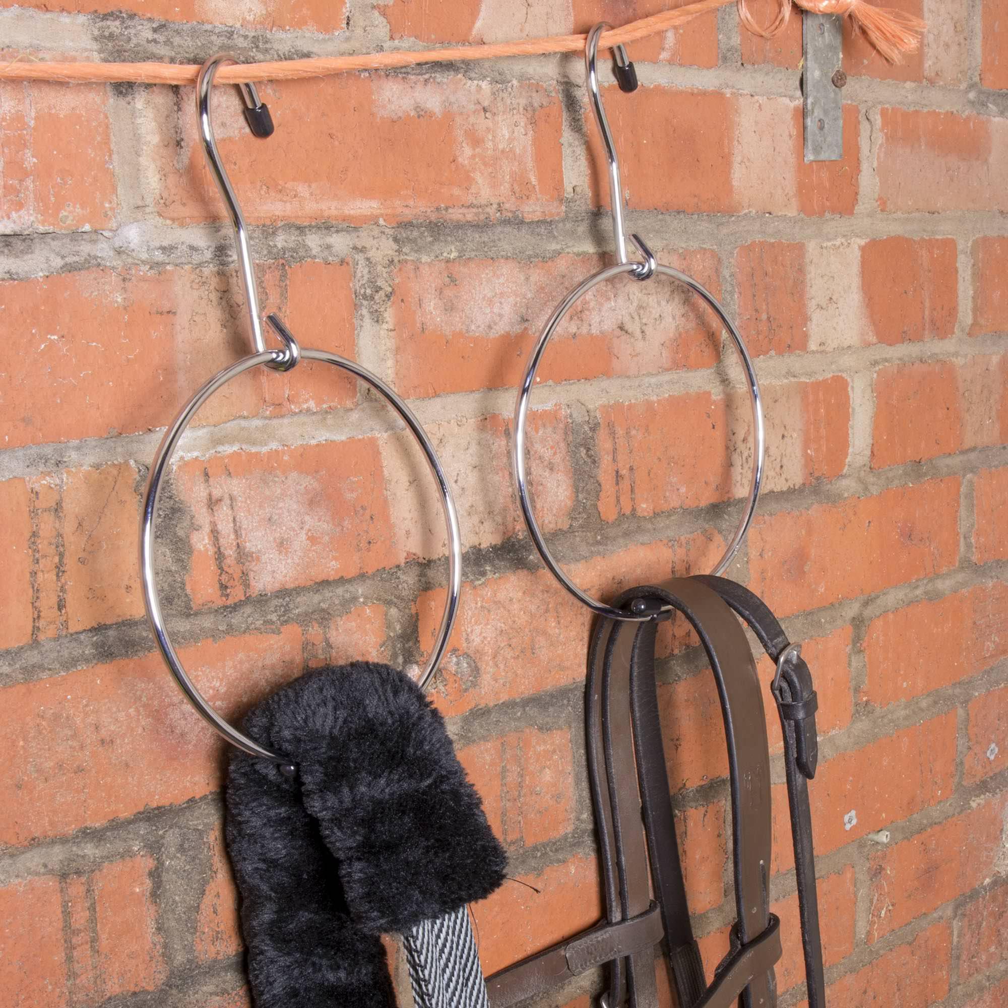 Chrome Metal Belt Hanger - 20cm