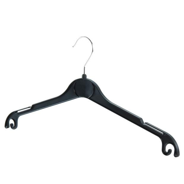 Teens & Small Adults Black Plastic Top Hangers - 40.5cm