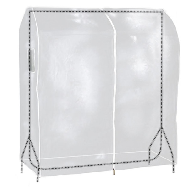 Transparent Clothes Rail Cover - 4ft