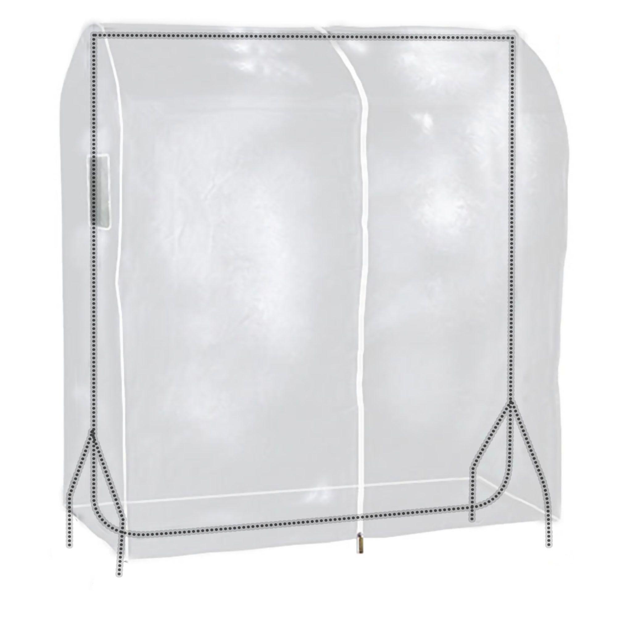 Hangerworld telo stand abiti 120cm x 165cm protezione appendiabiti antipolvere ebay - Carrello porta abiti ikea ...