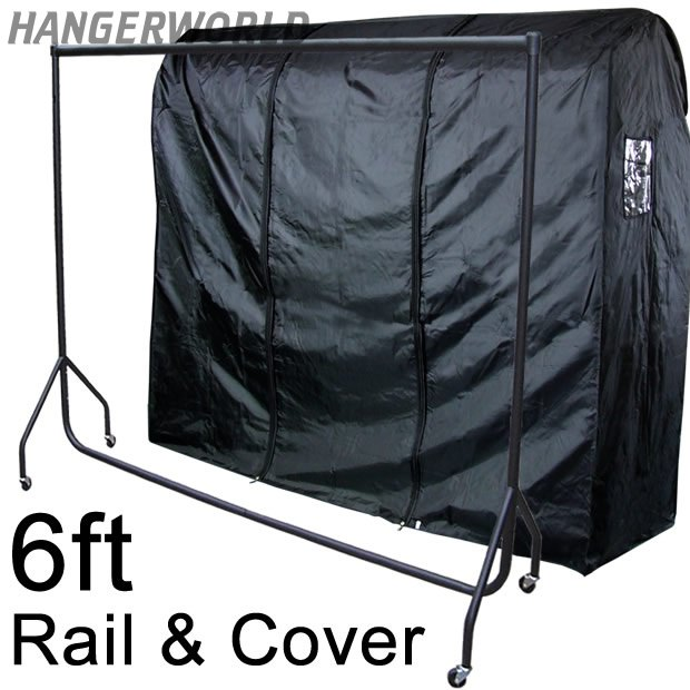 Heavy Duty Rail with Waterproof Rail Cover - 6ft