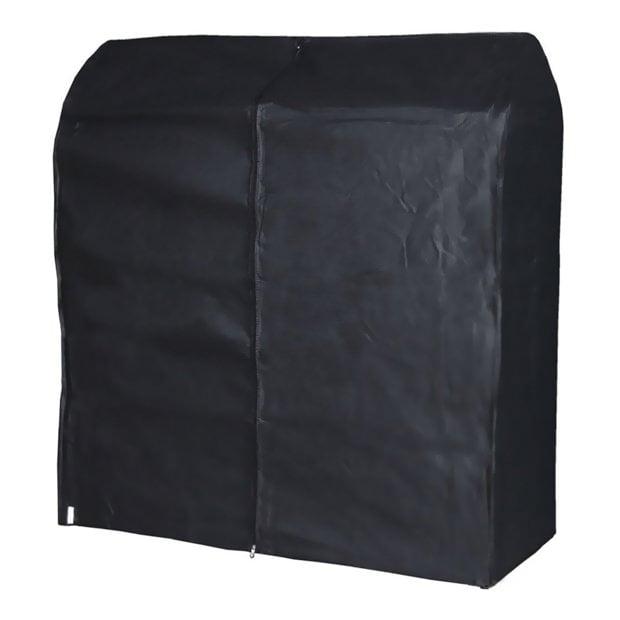 hangerworld housse 124cm respirante noire polypropyl ne pour portant v tements ebay. Black Bedroom Furniture Sets. Home Design Ideas