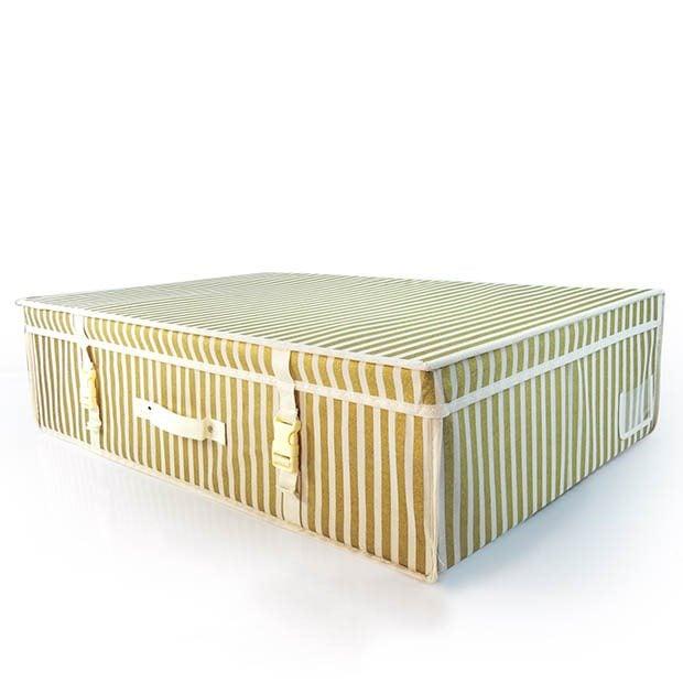 Wedding Gown Preservation Boxes: Gold Stripe Garment Storage Boxes