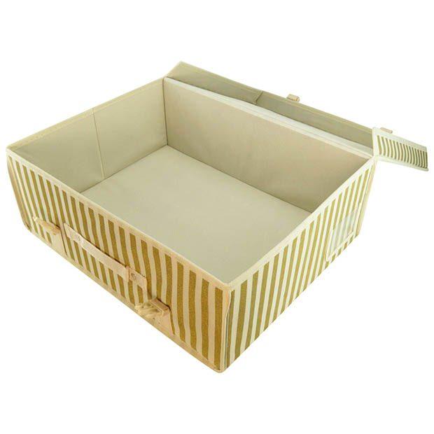Gold Stripe Garment Storage Boxes Hangerworld