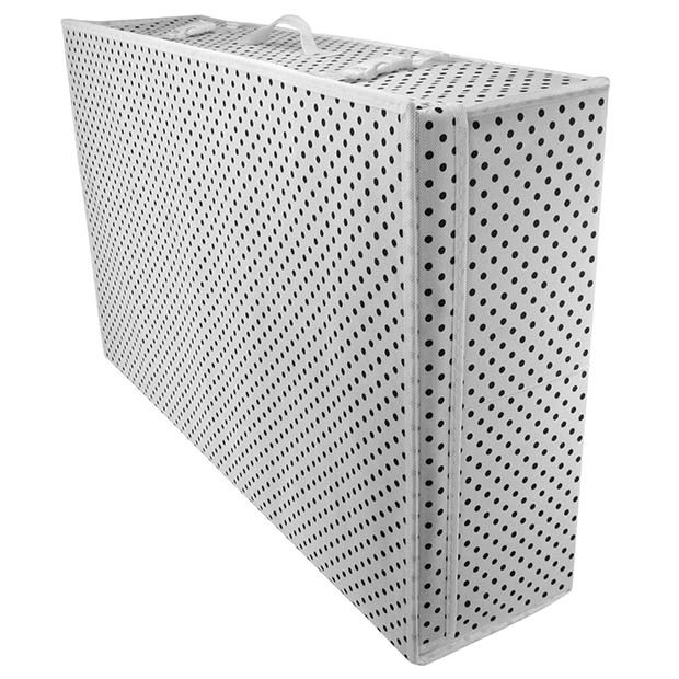 Wedding Gown Preservation Boxes: White Polka Dot Boxes