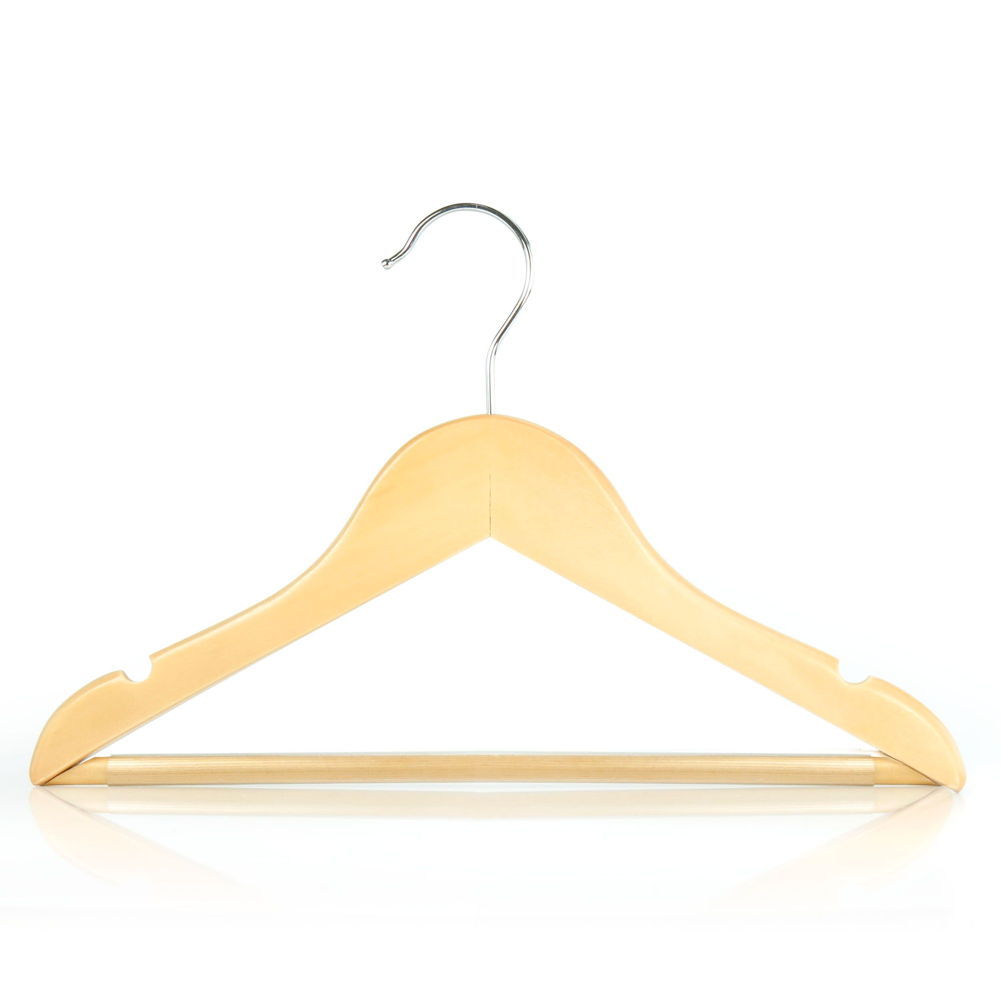Children's Natural Wooden Trouser Bar Hangers - 30cm