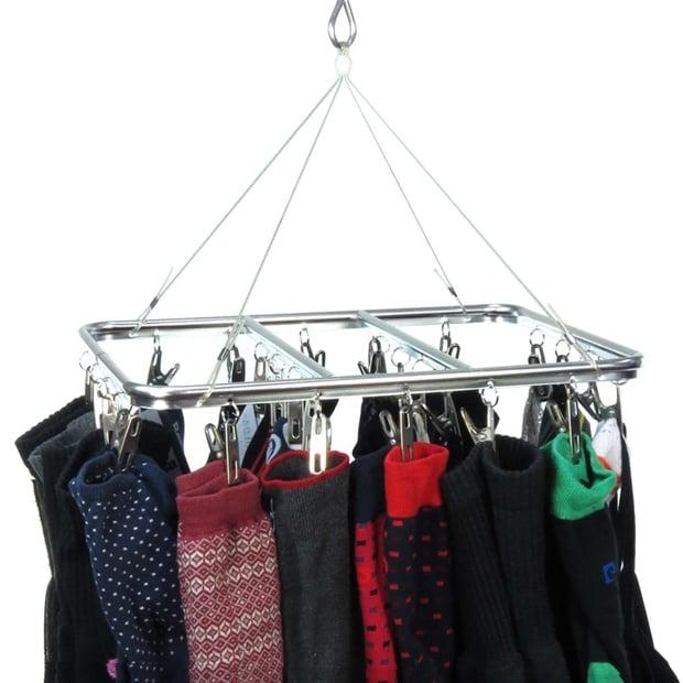 Stylish Aluminium 26 Peg Sock & Underwear Indoor Dryer