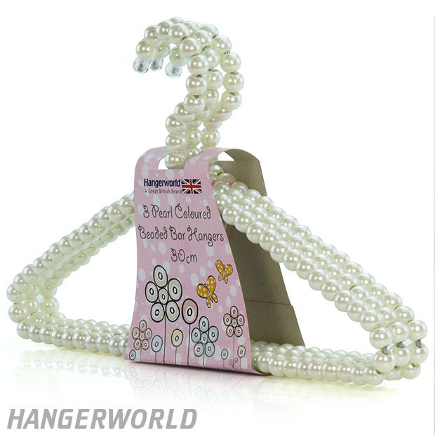 Gorgeous Boutique Style Pearl Effect Beaded Clothes Hanger - 30cm