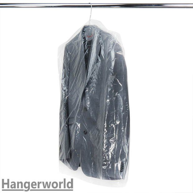 Clear Polythene Clothes Covers, 80 gauge, 102cm (40 Inches) Long
