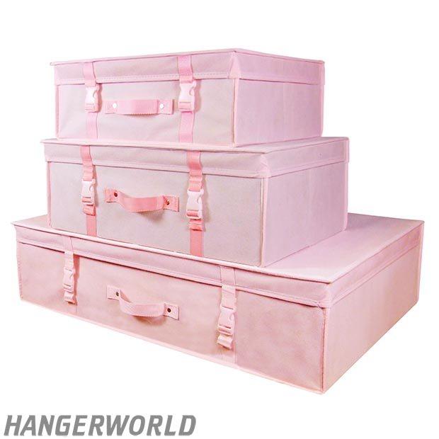 Pink Wedding Dress Bridal Box Gown Safe Storage Travel Case Carry ...