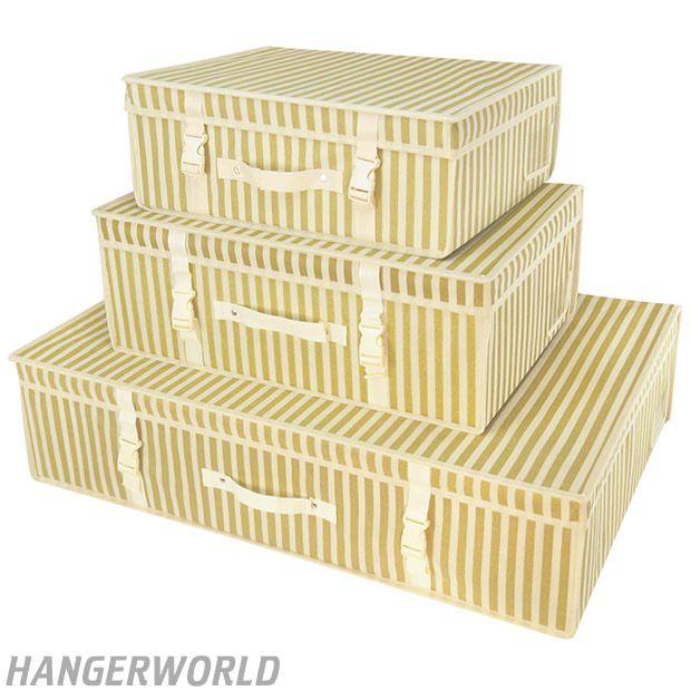 Gold Stripe Wedding Dress Storage Box
