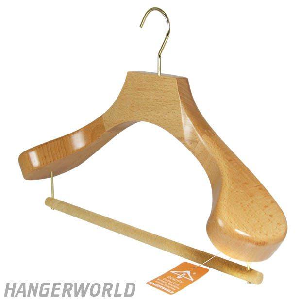 Luxury Natural Wooden Suit Hanger - 43cm